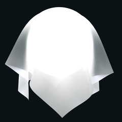 Light ball in the white cloth.