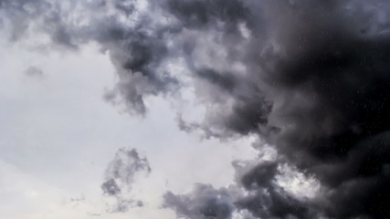 Time lapse of gray clouds as snow falls