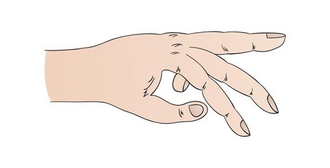 human hand with pointing ring finger