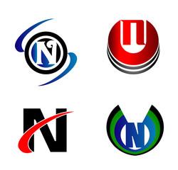 Set of Letter N logo