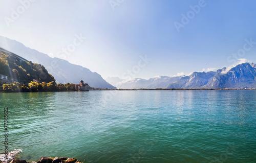 Panoramic view of Geneva lake , Switzerland © fischers