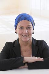 Chimiotherapie, femme Senior