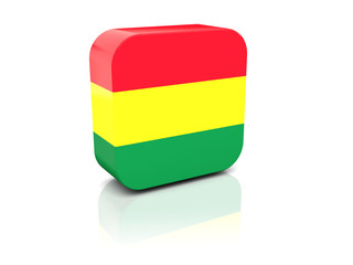 Square icon with flag of bolivia