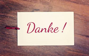 greeting card - Danke