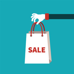 Sale vector concept in flat cartoon style