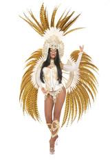 Hübsche Brasilianerin mit Kostüm
