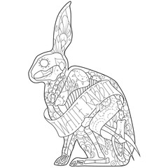 Outline rabbit