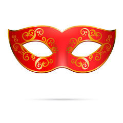 Vector red venetian carnival mardi gras party mask