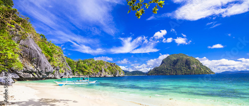 Foto Spatwand Eilanden tropical scenery of Palawan, Philippines