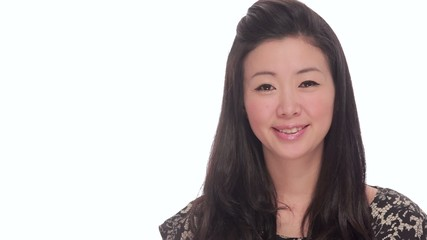 Young Asian woman smile face happy portrait