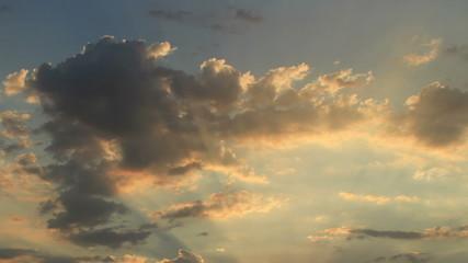 Amazing time lapse sunset skies