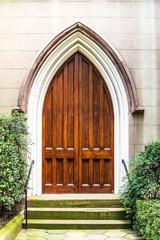 Old Wood Church Door