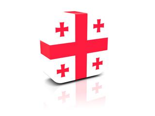 Square icon with flag of georgia