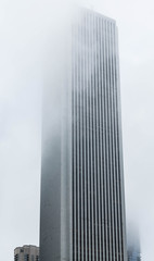 Tall Building Into Fog