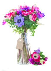 bouquet  of anemone flowers