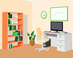 Green orange eco office