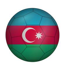 soccer ball flag of Azerbaijan