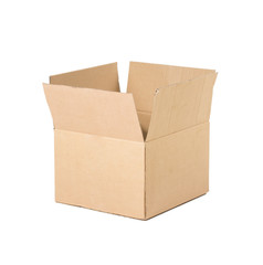 Open and empty recycle brown box packaging