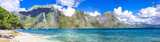 incredible islands of Philippines. Palawan (El NIdo) panorama - 77371680