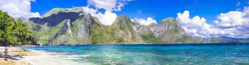 canvas print picture incredible islands of Philippines. Palawan (El NIdo) panorama