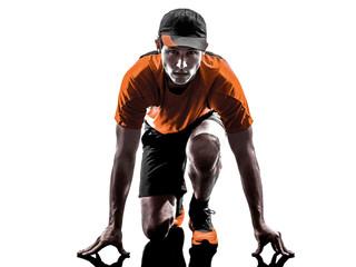 man runner jogger silhouette