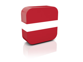 Square icon with flag of latvia
