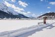 St. Moritz, Dorf, St. Moritzersee, Alpen, Winter, Schweiz