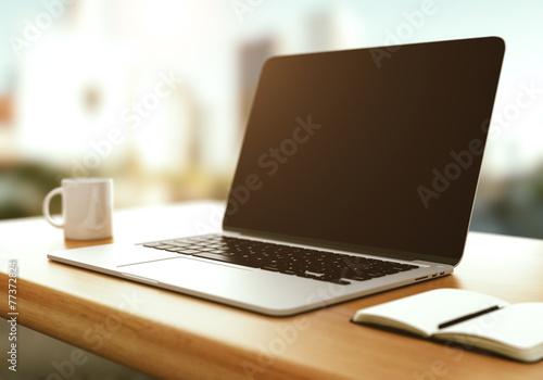 modern laptop poster