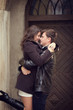 Romantic hug sunny portrait couple man woman
