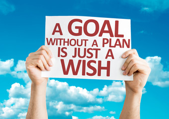A Goal without a Plan is Just a Wish card with sky background