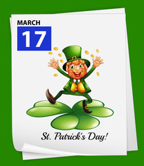 A poster showing St. Patrick's day