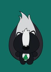 Free Hugs!skunk with air freshener around his neck