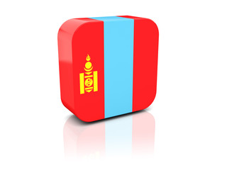 Square icon with flag of mongolia