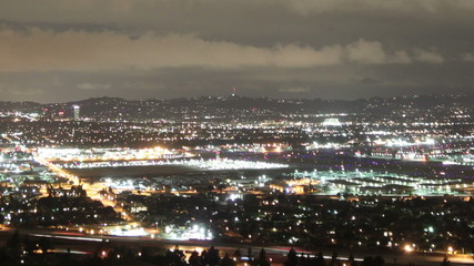 Bright time lapse shot overlooking the San Fernando Valley