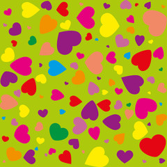Abstract seamless background with hearts,vector illustration