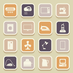 Home appliances universal icons for web and mobile applications