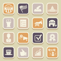 Political election campaign universal icons for web and mobile