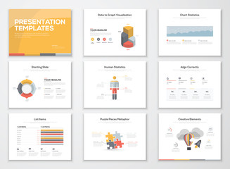 Creative infographics presentation templates and brochures