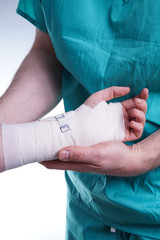 Sprained hand