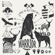 wild animals - vintage labels - 77377230