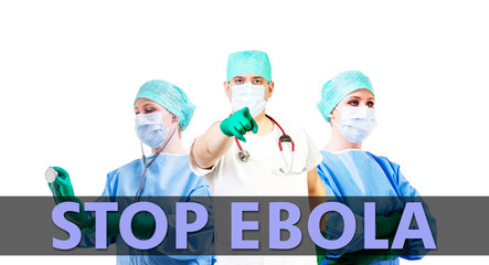 stop Ebola medical background