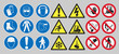 Work safety signs - 77377441