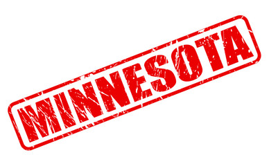 Minnesota red stamp text