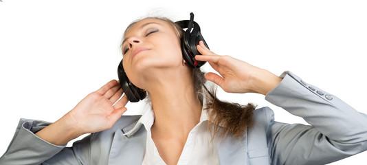 Businesswoman in headset