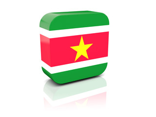 Square icon with flag of suriname