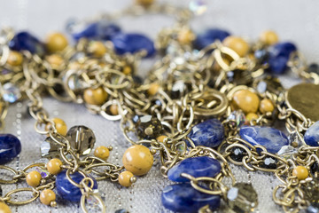 Close up Elegant Golden Chain Fashion