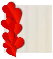 Valentine hearts paper cut out design
