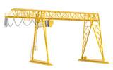 Fototapety Yellow gantry bridge crane, half-turn