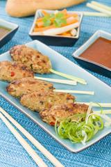 Nem Nuong Xa - Vietnamese pork sausages on lemongrass skewers