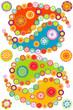 Colorful paisley elements